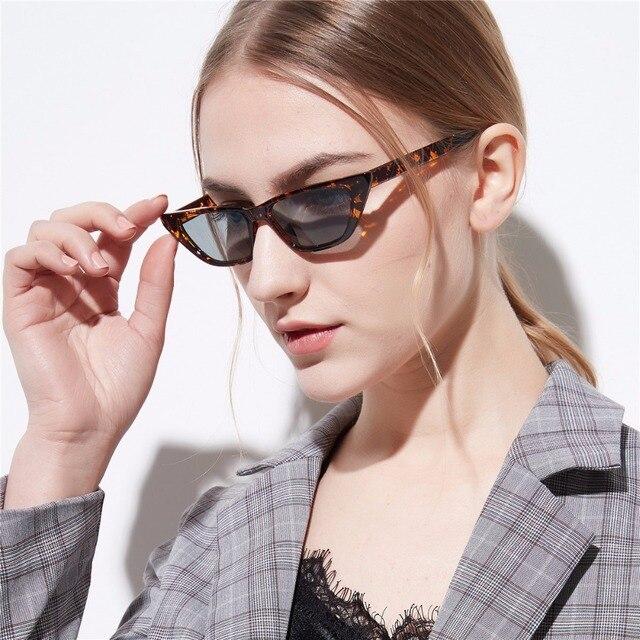 YOOSKE Luxury Cat Eye Sunglasses Mulheres Retro Vintage Pequeno Cateye Óculos de Sol Senhoras Flat top Óculos Shades para Mulheres