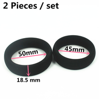 2pcs/set Inner size: 45mm , 50 mm silicone cock ring delay ring very thick  peni
