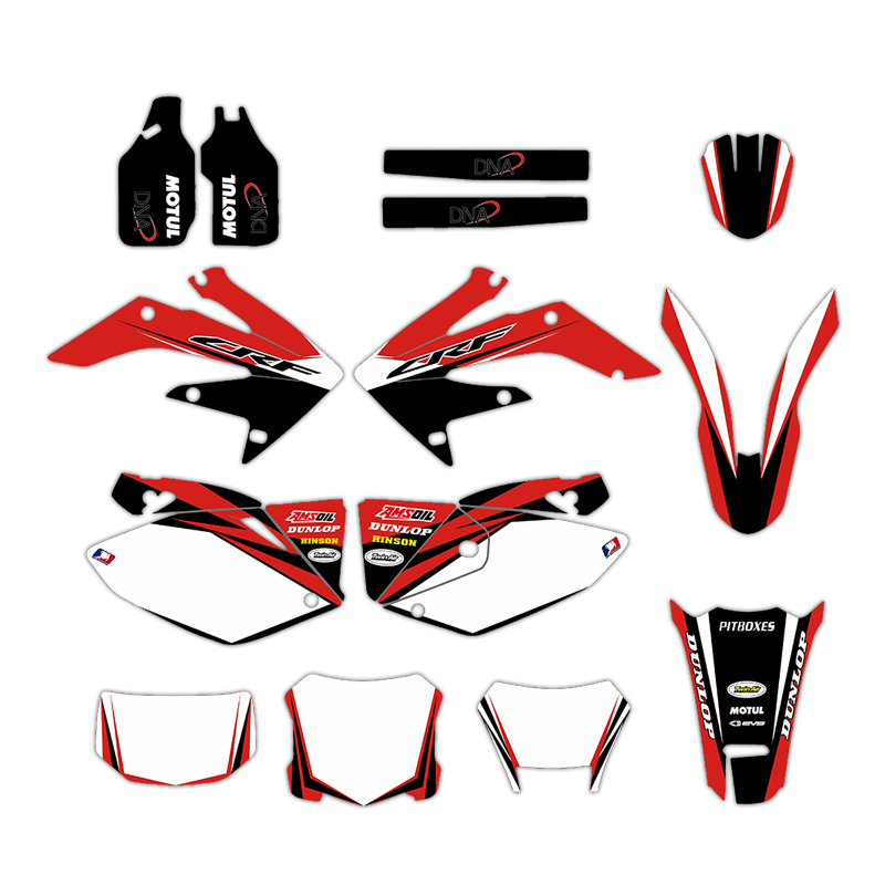 Motorcycle Graphics Backgrounds Decal Sticker Kit for Honda CRF250X CRF 250X 4 STROKES 2004-2012 2006 2007 2008 2009 2010 2011Motorcycle Graphics Backgrounds Decal Sticker Kit for Honda CRF250X CRF 250X 4 STROKES 2004-2012 2006 2007 2008 2009 2010 2011