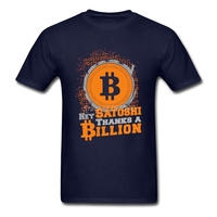 Gildan Thanks A Billion Bitcoin T Shirt Cotton Crewneck Custom Short Sleeve T Shirt Men 2017