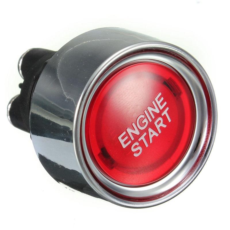 Red universal car iluminado Motores arranque interruptor Racing voltaje 12 V DC cabe en un 22mm agujero