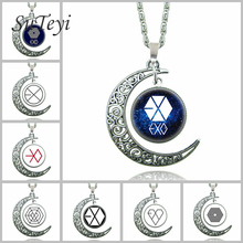 SUTEYI Blue Witchcraft Moon Necklace Silver Color Brand Pendants And Necklace Statement Jewelry Fashion Women Necklace