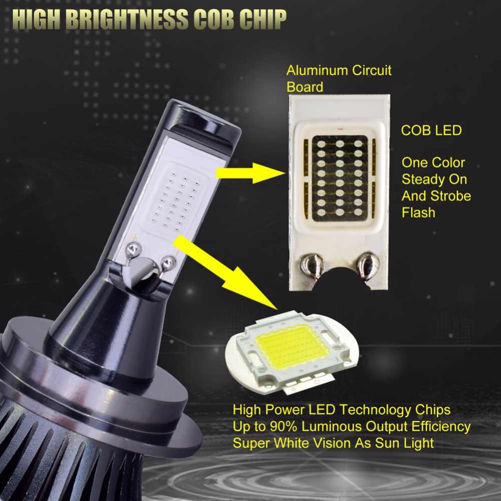 2Pcs Strobe Cob LED Fog Light Bulbs H1 led H3 H7 H11 H8 9005 9006 HB3 HB4 H27 880 881 Flash Car Headlight Fog Light Bulb 12V