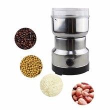 Molinillo de café eléctrico de acero inoxidable, para hierbas, especias, frutos secos, granos, moler granos