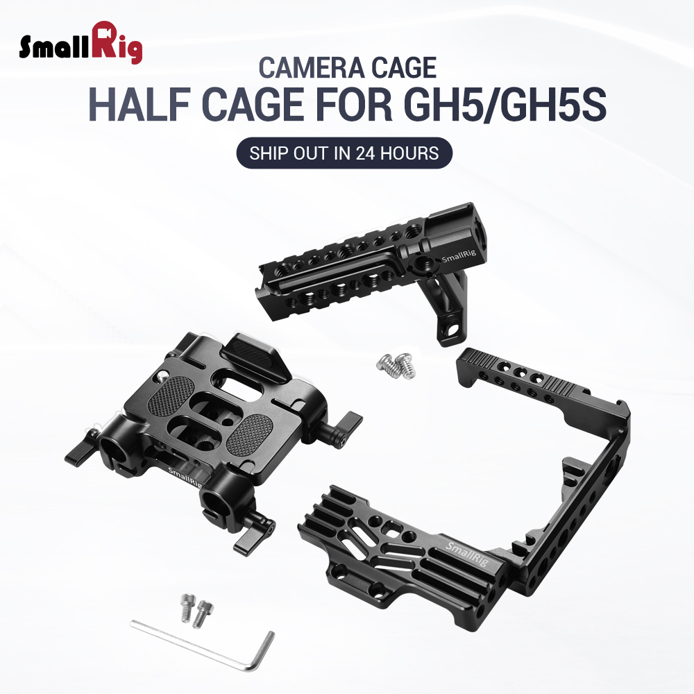 SmallRig GH5 Camera Cage Stabilizer for Panasonic Lumix GH5 /<font><b>GH5S</b></font> Camera with Battery Grip With 15mm Rod Clamp 2025 image