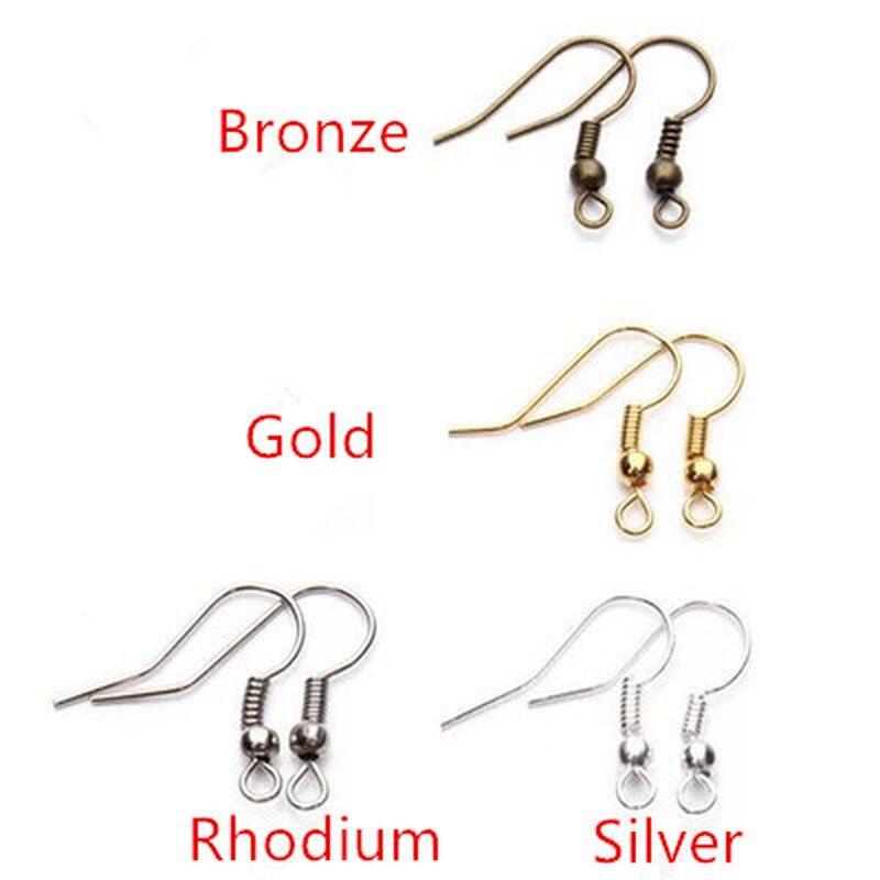 100pcs/lot 20x17mm DIY Earring Findings Earrings Clasps Hooks Fittings DIY Jewelry Making Accessories Iron Hook Earwire Jewelry