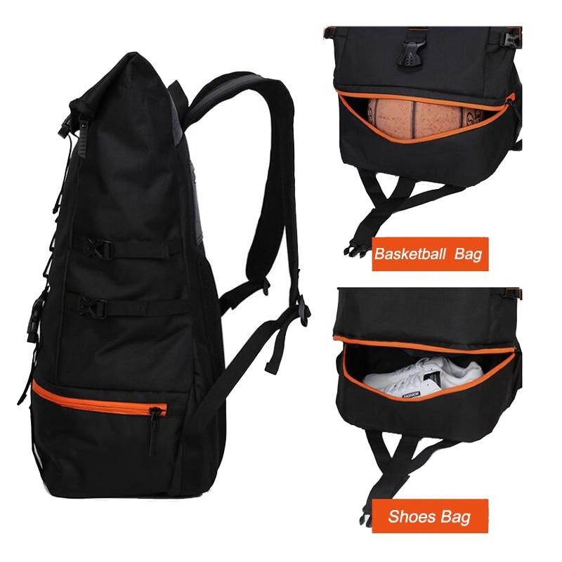 Zebella черный мужской рюкзак большой емкости мужские дорожные рюкзаки спортивная баскетбольная сумка дышащий рюкзак Mochila школьная сумка-1