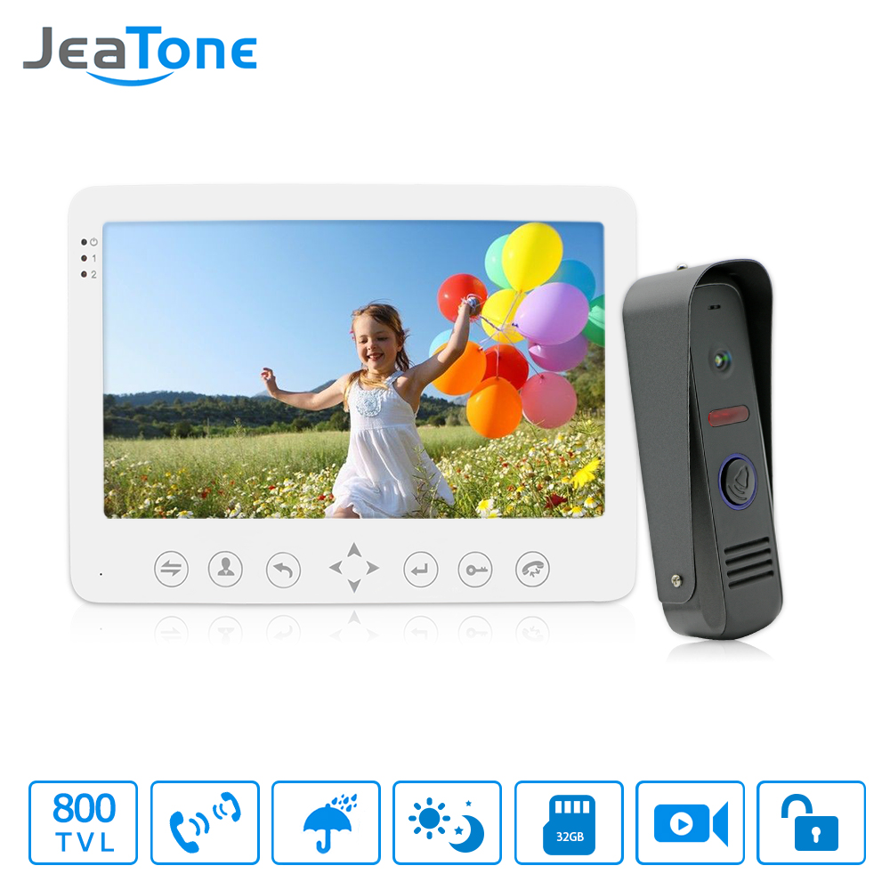 Free shipping 1200TVL JeaTone Video Intercom Systems Residential Commercial Home Security Video Door Phone Kit Door