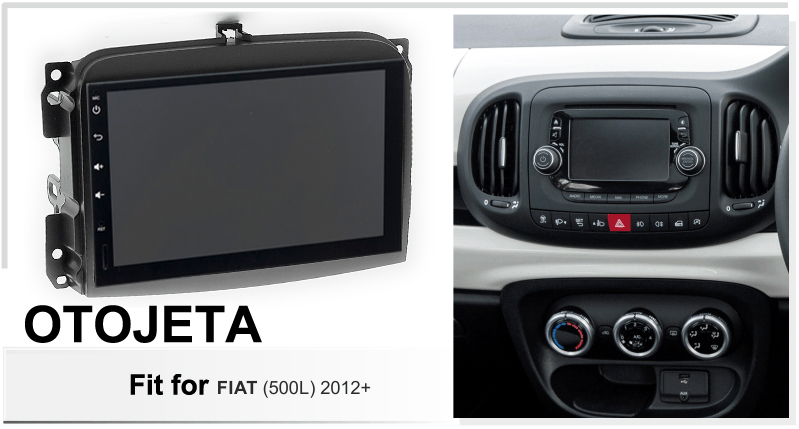 Android 9.0 radio 8core car multimedia GPS Navigation for Fiat 500L 2012 car accessories aux bluetooth HD video player + frame