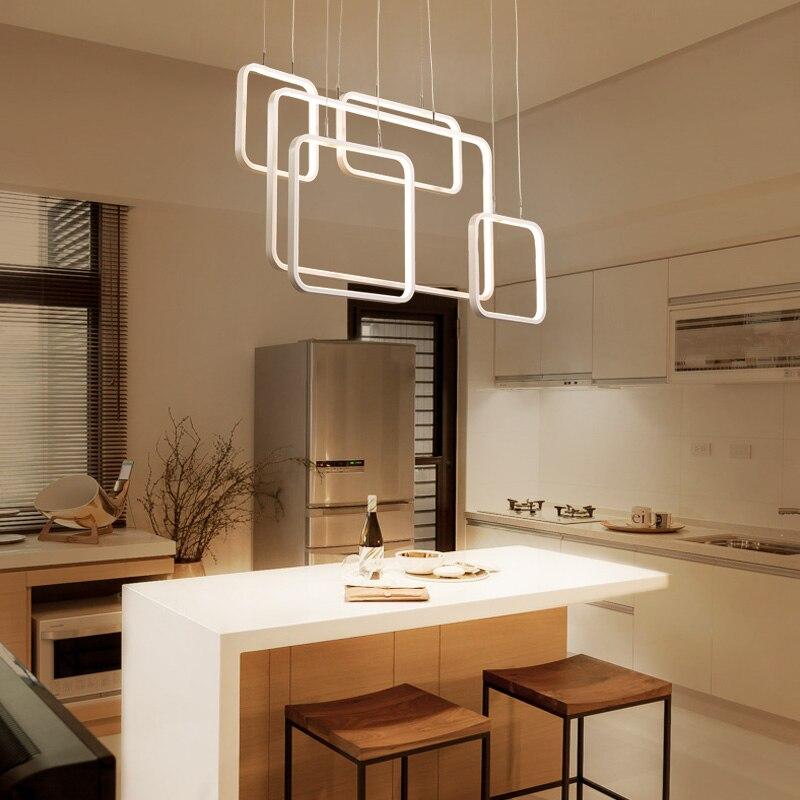 Moderne led lustre Nordique restaurant salon lustre en aluminium gradation escalier éclairage éclairage loft lustre