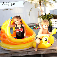 Yellow snail inflatable paddling pool summer children play pool birthday gift