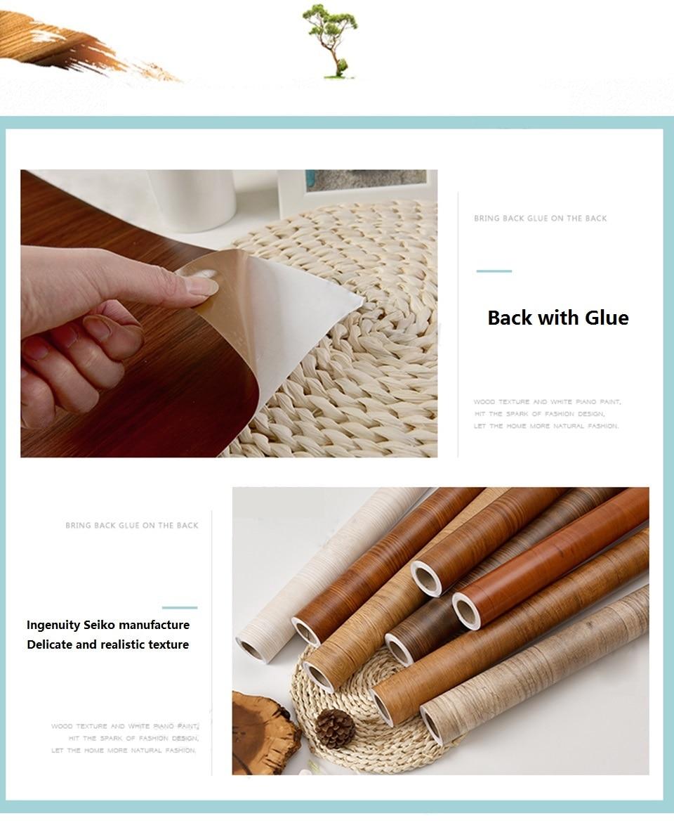 Pvc vinil grão de madeira papel de