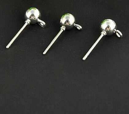 Горячие 20 шт 15x4 мм круглый шар Висячие Крючки серьги для женщин модные серьги Diy Ювелирные изделия изготовление серьги аксессуары
