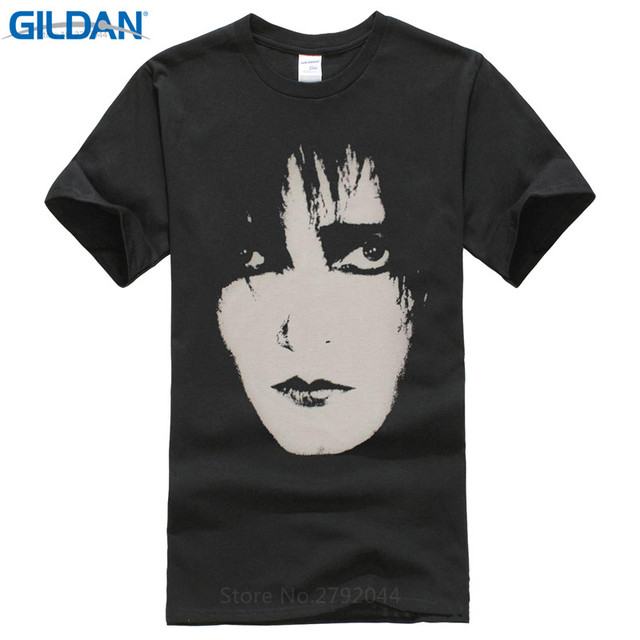 df292112a05f5c Plain T Shirts Crew Neck Men Short-Sleeve Tall And The Banshees Face Post  Gothic The Cure Black T Shirt