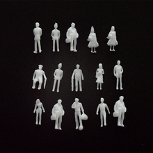 Free shipping 100pcs miniature white figures Architectural model human scale HO model ABS plastic peoples 1;150 стоимость