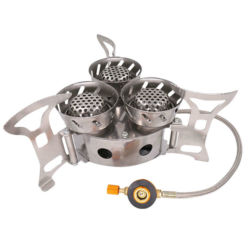 Portable Split Stove Outdoor Windproof Gas Burner Camping Stove Cooking Furnace