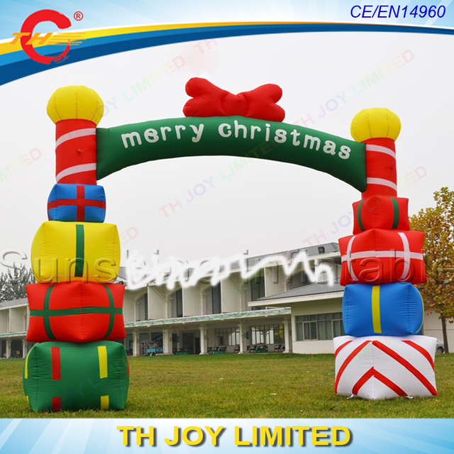 free shipping advertising inflatable christmas archeschristmas inflatable archinflatable christmas decorations arch - Christmas Arch Decorations