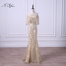 ADLN Off-the-shoulder Mermaid Evening Dresses Sexy Special Occasion Gown Robe de Soiree Prom Wear 2017