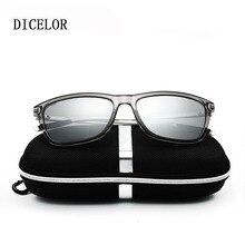 DICELOR Unisex Retro Aluminum Magnesium Brand Sunglasses Polarized Lens Vintage Eyewear Accessories Sun Glasses Men/Women