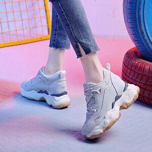 Image 3 - Donna Casual scarpe Traspirante Chunky Scarpe Da Ginnastica 9 centimetri Altezza Aumentare Scarpe Da Tennis Della Piattaforma Casual Ascensore Scarpe Degli Appartamenti Delle Signore scarpe Da Ginnastica