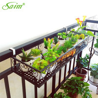 Saim Planter Stand Box Holder Gardening Suspended Wall Hanging Planter Metal Iron Flower Pot Hanging Balcony Garden Home Decor