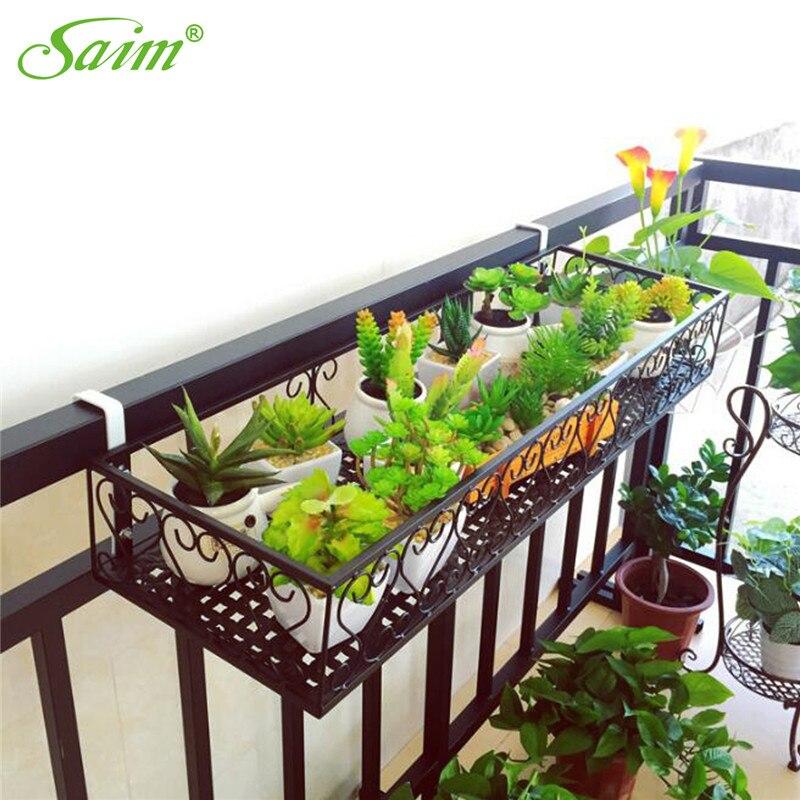 Saim jardinière support de la boîte jardinage suspendu tenture murale jardinière métal fer fleur Pot suspendu balcon jardin décor à la maison
