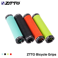 2019 new 1Pair ZTTO MTB Handlebar Grips Silicone Gel Lock on Anti slip Grips for MTB Folding Bike bicycle parts AG15 Cheap hot цена