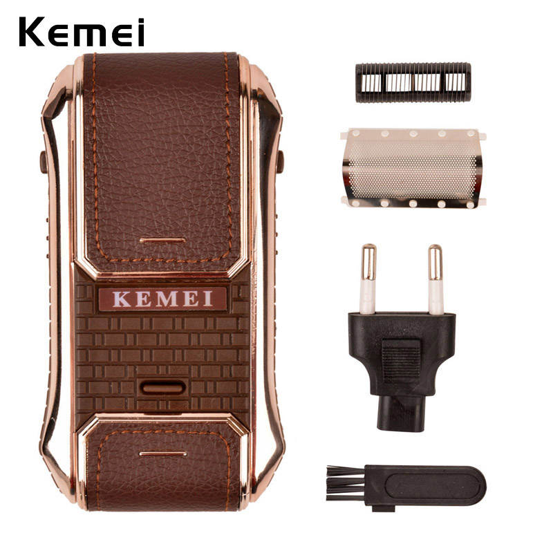 Kemei Electric Rechargeable Shaver Beard Trimmer Electric Razor Personal Face Care Shaving & Hair Removal for man Dropshippping kemei waterproof electric shaver head of kemei5886 waterproof spare the razor head 5d shaving hair trimmer for man face care