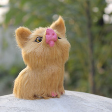 Newly handmade animal cute simualtion mini pig toy