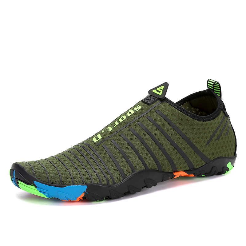 2280653b549da Summer Shoes Men Breathable Aqua Shoes Rubber Sneakers Adult Beach Slippers Upstream  Shoes Women Diving Socks