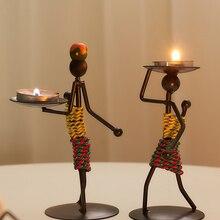 Креативная фигура из кованого железа подсвечник веселый романтический ужин при свечах праздничный стол маленькие украшения