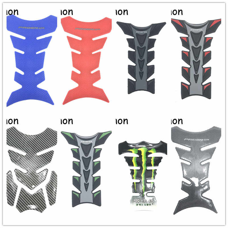 Arunnon Motorcycle Tank Sticker Decals 3D Carbon Fiber Tank Pad Motobike Devil Skull Logo Protect Fuel Racing Accessories
