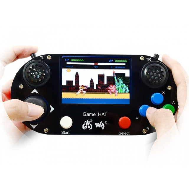Raspberry Pi 3B+ Game HAT LCD 3.5inch HDMI LCD Gamepad on Board Make Your Own Game Console for Raspberry Pi Zero W/WH