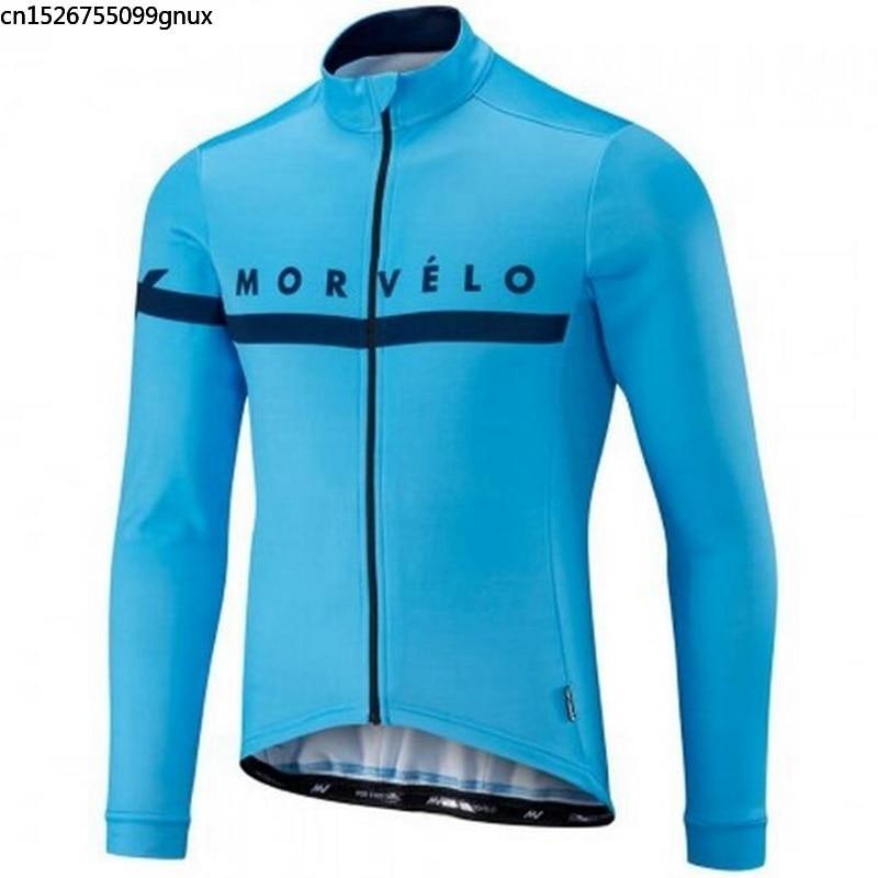 Morvelo Ciclismo jersey hombre mtb bicicleta Pro equipo Ropa deportiva Ropa camisa maillot Ciclismo manga larga jersey Ropa 2018(China)