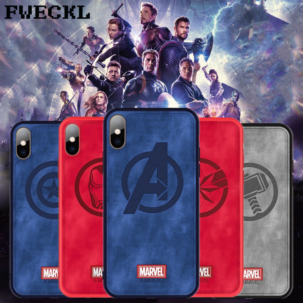 High Quality Cloth Leather Phone Case For iPhone 8 Plus Super Hero Marvel Avengers Cover For iPhone X XS XR XS MAX Iron Man CapaHigh Quality Cloth Leather Phone Case For iPhone 8 Plus Super Hero Marvel Avengers Cover For iPhone X XS XR XS MAX Iron Man Capa