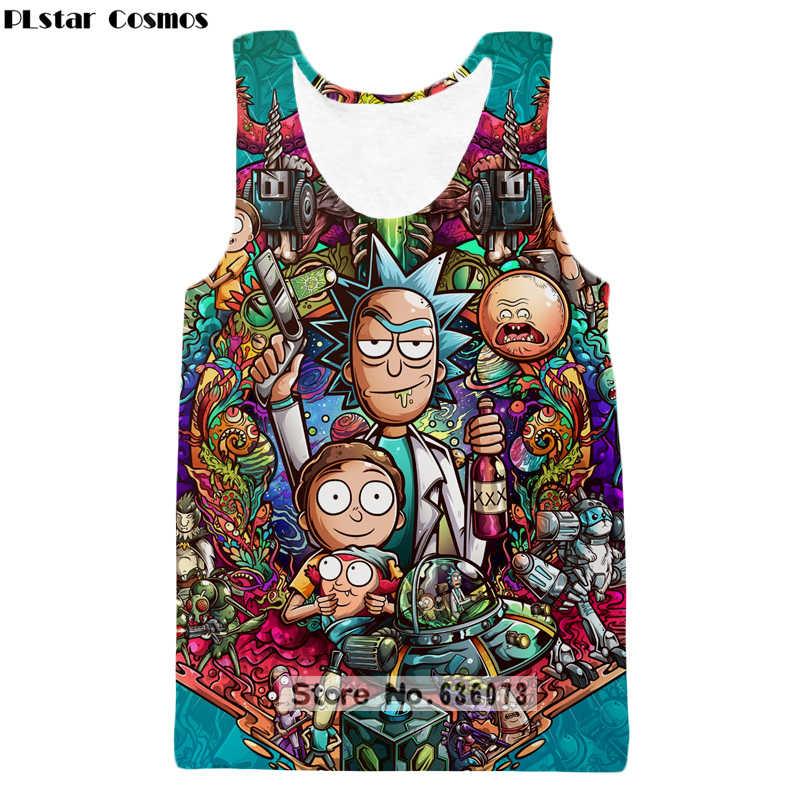 739e8b92331b PLstar Cosmos 2018 summer The New Fashion Tank tops Cartoon Rick and morty Print  3D Vest