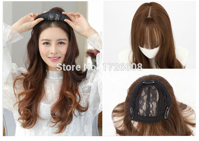 US $16.96 36% OFF|Silk Base Party Wig Female Hair pieces New Premium Hair  Replacement Toupee Lace Frontal Closure with bundles Synthetic Accessory-in  ...