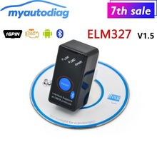 Super Mini ELM327 V1.5 Bluetooth Power Switch On/Off OBD2 Code Scanner ELM 327 for Android OBDII Diagnostic Tool Free Shipping