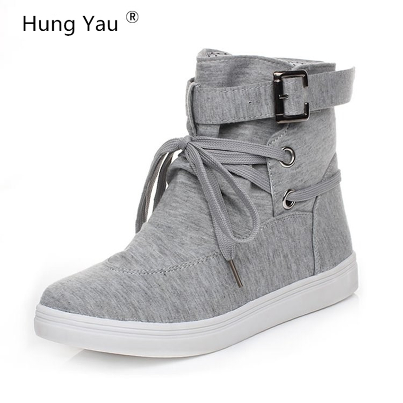 Hung Yau Women Thick Bottom Round Toe Boots Lace-Up Lady Ankle Martin Boots Autumn Ankle Boots Black Canvas Shoes Plus Size 10Hung Yau Women Thick Bottom Round Toe Boots Lace-Up Lady Ankle Martin Boots Autumn Ankle Boots Black Canvas Shoes Plus Size 10