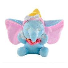 9.84 25cm Dumbo Cute Big Ear Elephant Plush Toys Dolls with Sucker Keychain Pendant Soft Stuffed Boys Girls Kids Baby Gifts