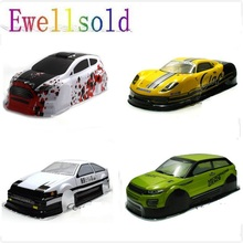 Ewellsold 1/10 בקנה מידה על כביש הסחף רכב צבוע PVC גוף מעטפת 190MM עבור 1/10 רדיו מבוקר רכב מרובה אפשרויות 1pc