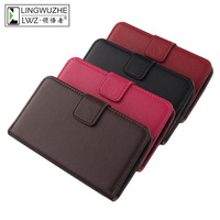 LINGWUZHE Plain Genuine Leather Cover Flip Card Pocket Phone Case For Samsung Galaxy J2 J200 4G