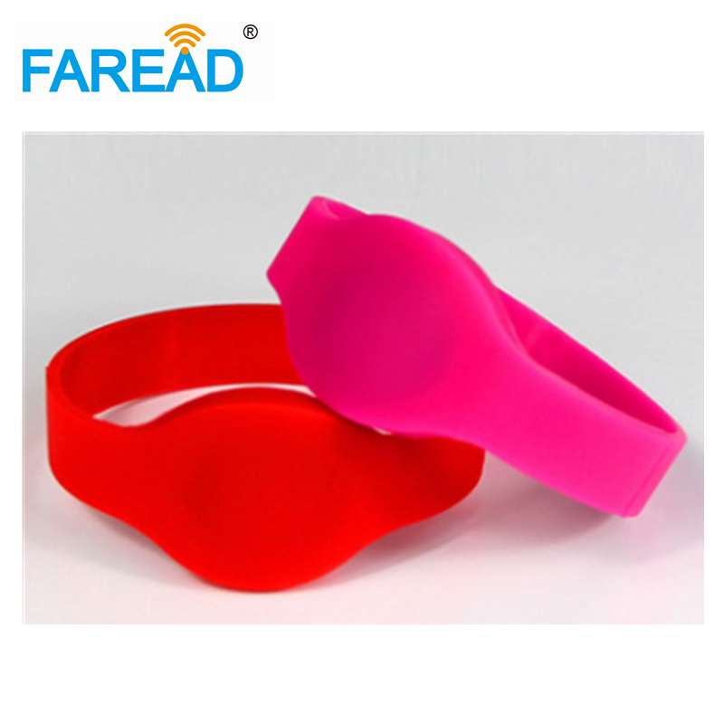 X100pcs Free Shipping 125khz T5577  RFID Wristband  For Swimming Pool Sauna Room GYM