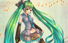 Living room bedroom home wall decoration fabric poster art girl hatsune miku look surprise flying