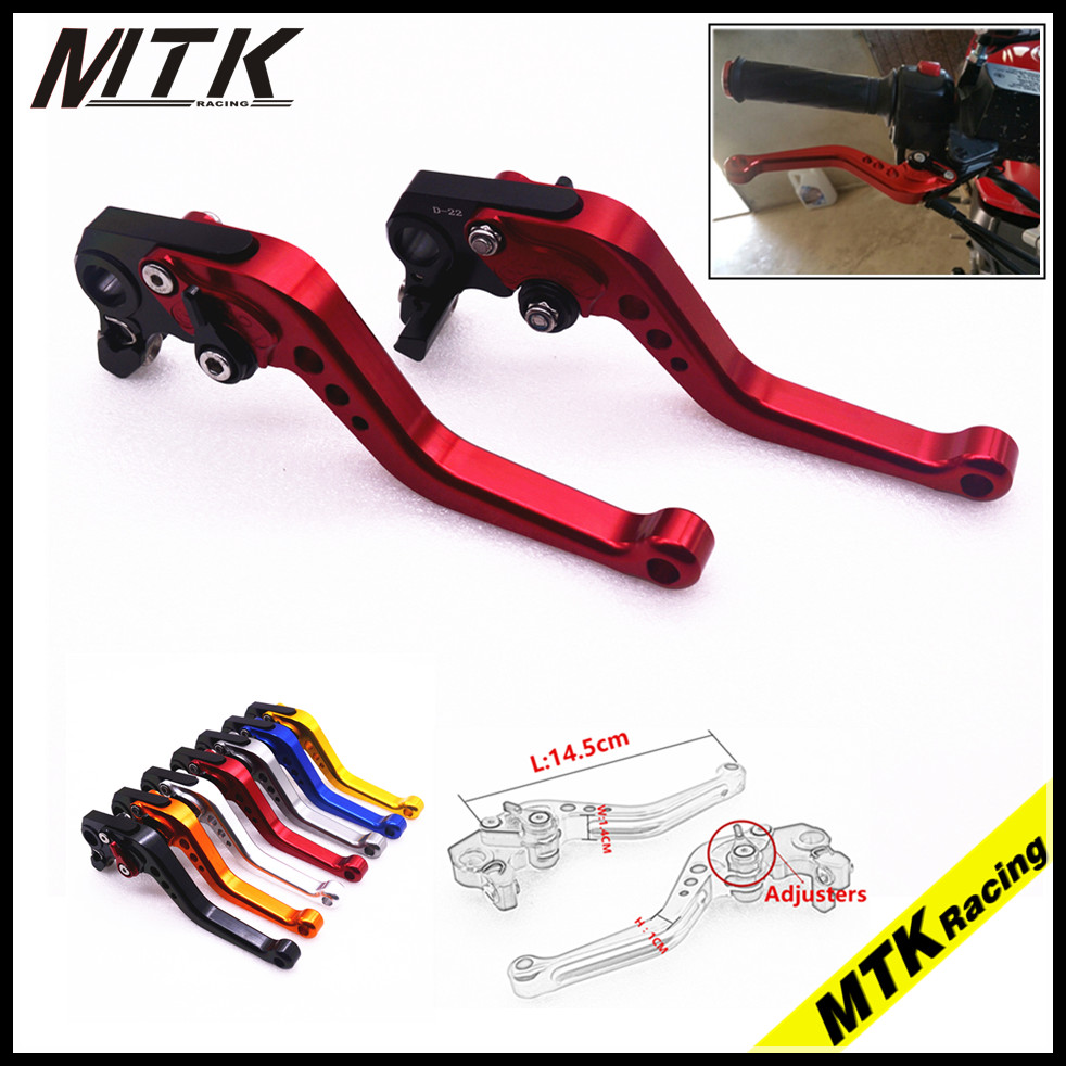 MTKRACING  CNC Short Brake Clutch Levers For Yamaha FZ1 FAZER FZ6R FZ8 XJ6 FZ6 MT-07 MT-09 FZ-09  XSR700 XSR900 cnc billet adjustable long folding brake clutch levers for yamaha fz6 fazer 04 10 fz8 2011 14 2012 2013 mt 07 mt 09 sr fz9 2014