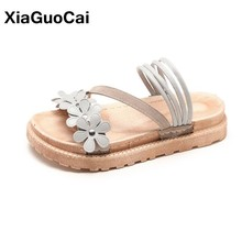 2019 Summer Women Sandals Casual Platform Shoes Flat Outdoor Female Beach Shoes Flower Slip-on Ladies Slippers New Arrival new hot women beach shoes flower flat sandals slip resistant slippers sandal 17mar20