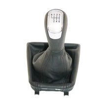 6 Speed Auto Manual Pookknop Met Boot Zilverachtige Cap Voor Skoda Superb 2008 2009 2010 2011 2012 2013(China)