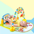 2017 Infant Cartoon Cradle Toys Baby Gilrs&Boys Fitness Frame Multifunction Foot Piano Music Game Blanket Kids Crawling Mat
