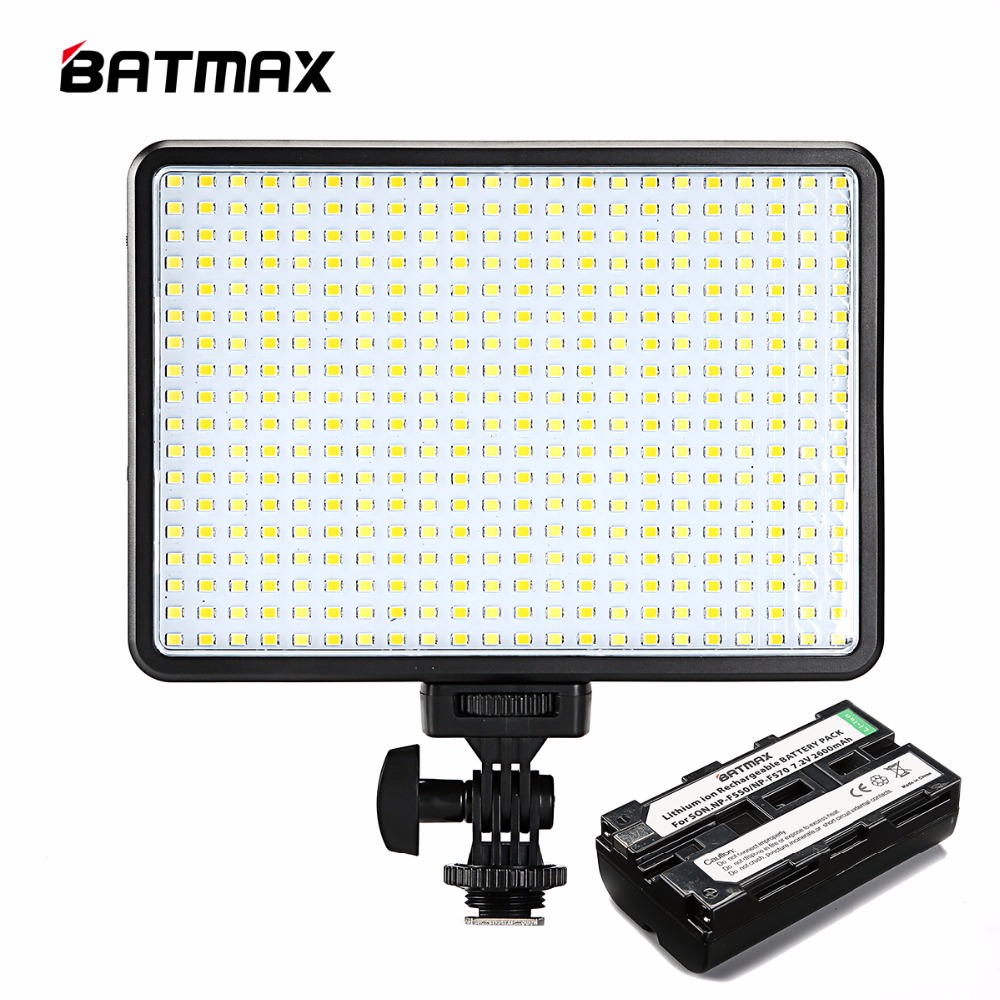 396 LED-lamper Belysning Bi-Farve & Dimmable Slim DSLR Video LED Lys + F550 Batteri + Oplader til Canon Nikon Camera DV Camcorder