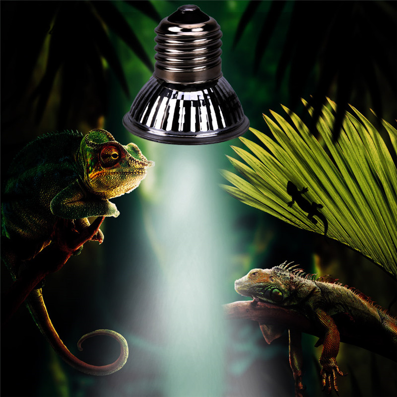 UV LED Lamp Reptile Tortoise Heating Lamp Full Spectrum Sunlamps Basking Pet Brooder Heat Light Lamp Bulb 25W/50W/75W